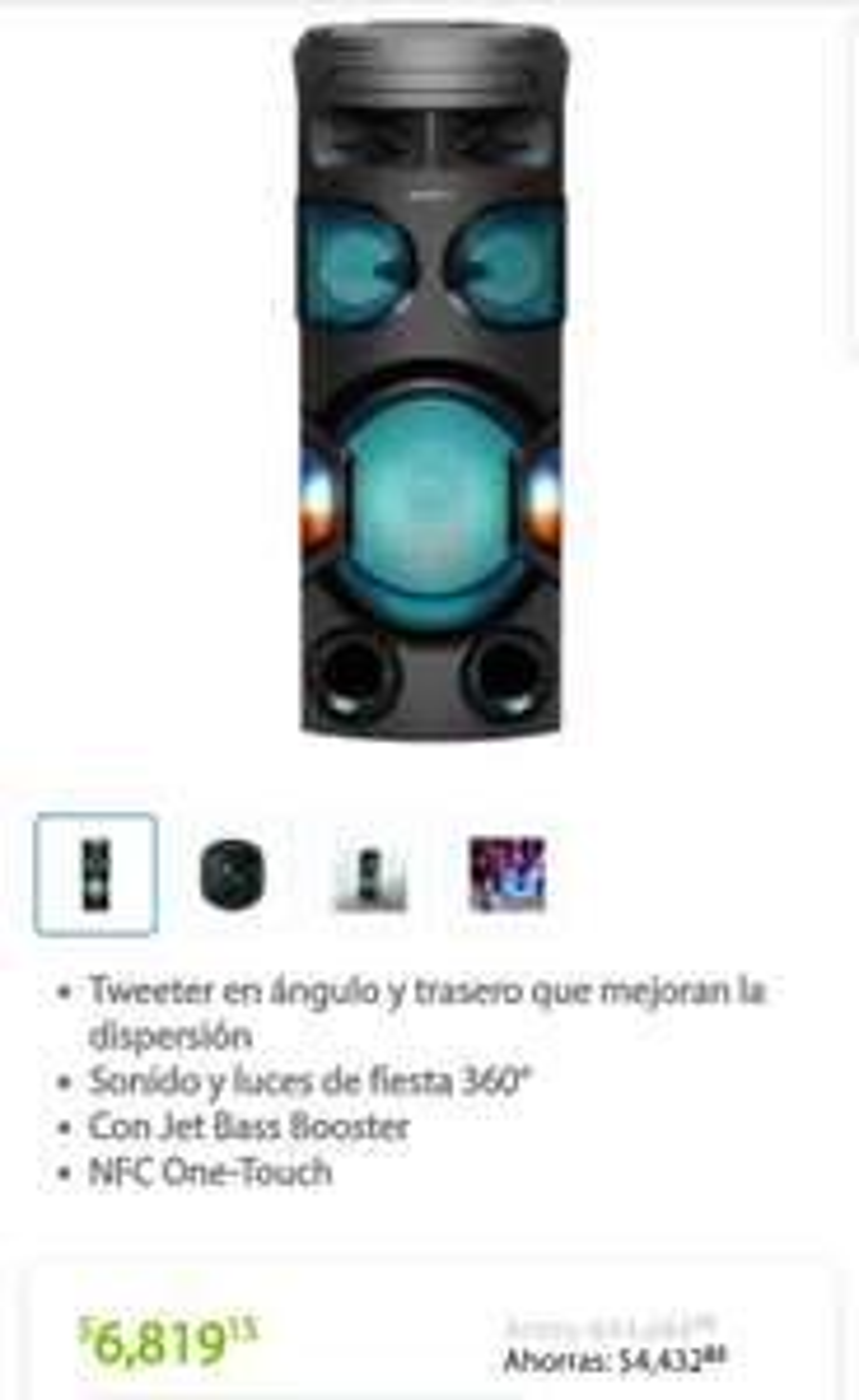 Sam's Club: Sistema de audio Sony MHC-V71D