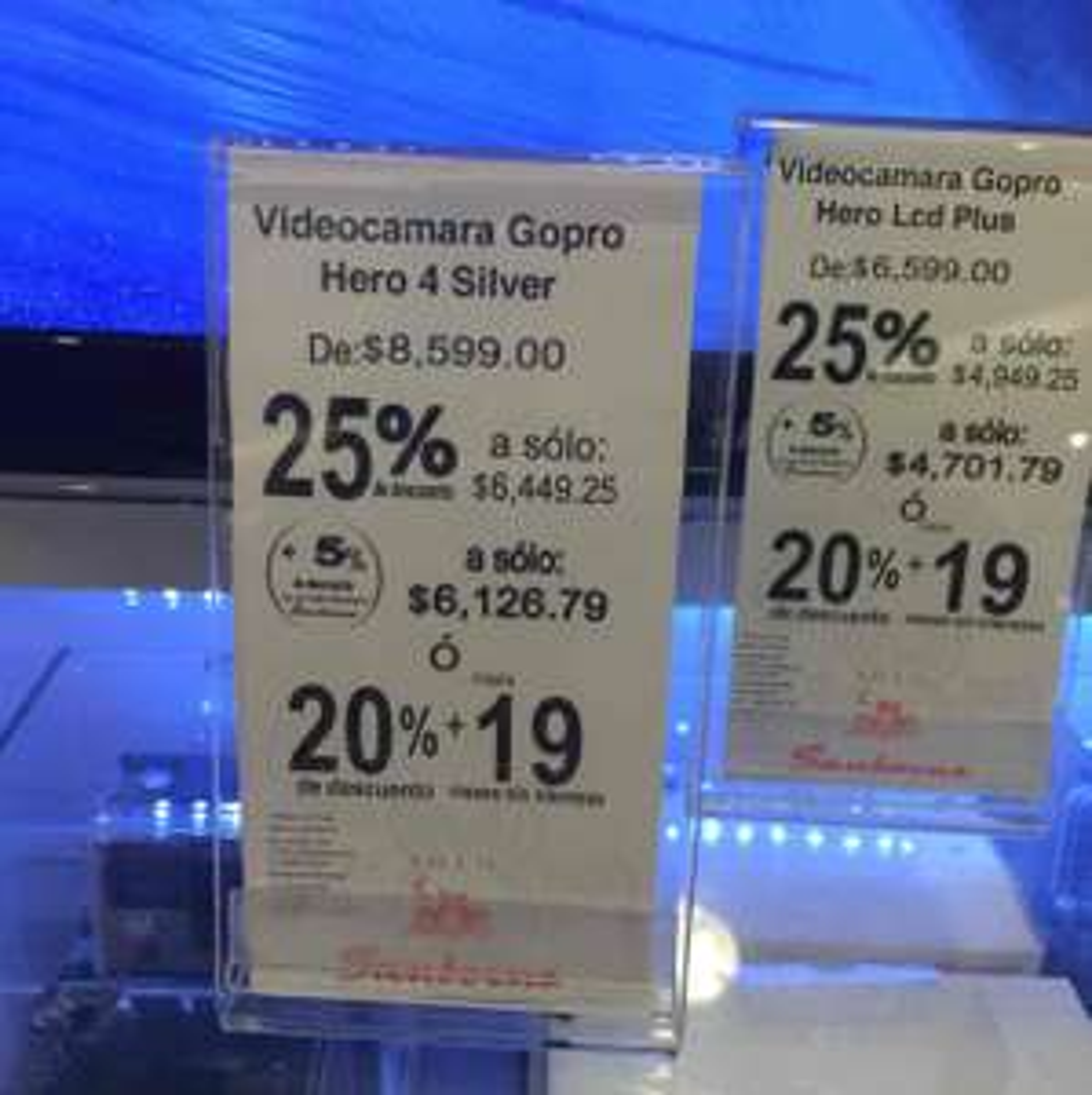 Sanborns: Gopro 4 a $6,449