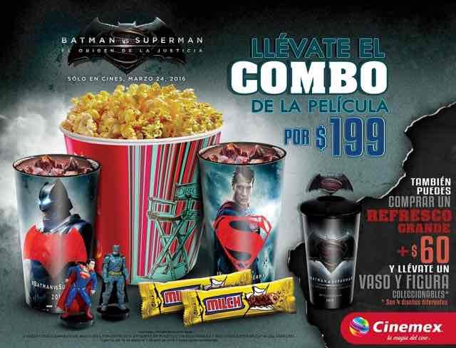 Cinemex: Combo Batman vs Supernan