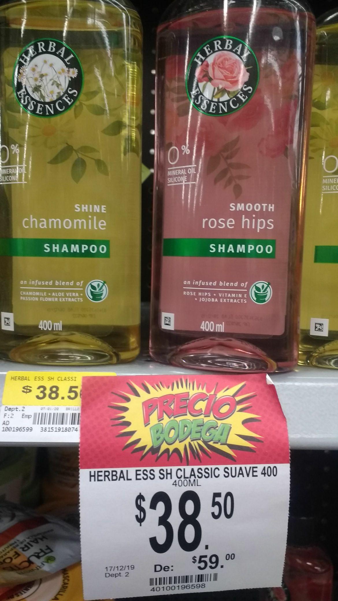 Bodega Aurrerá Shampoo Herbal Essences clásico