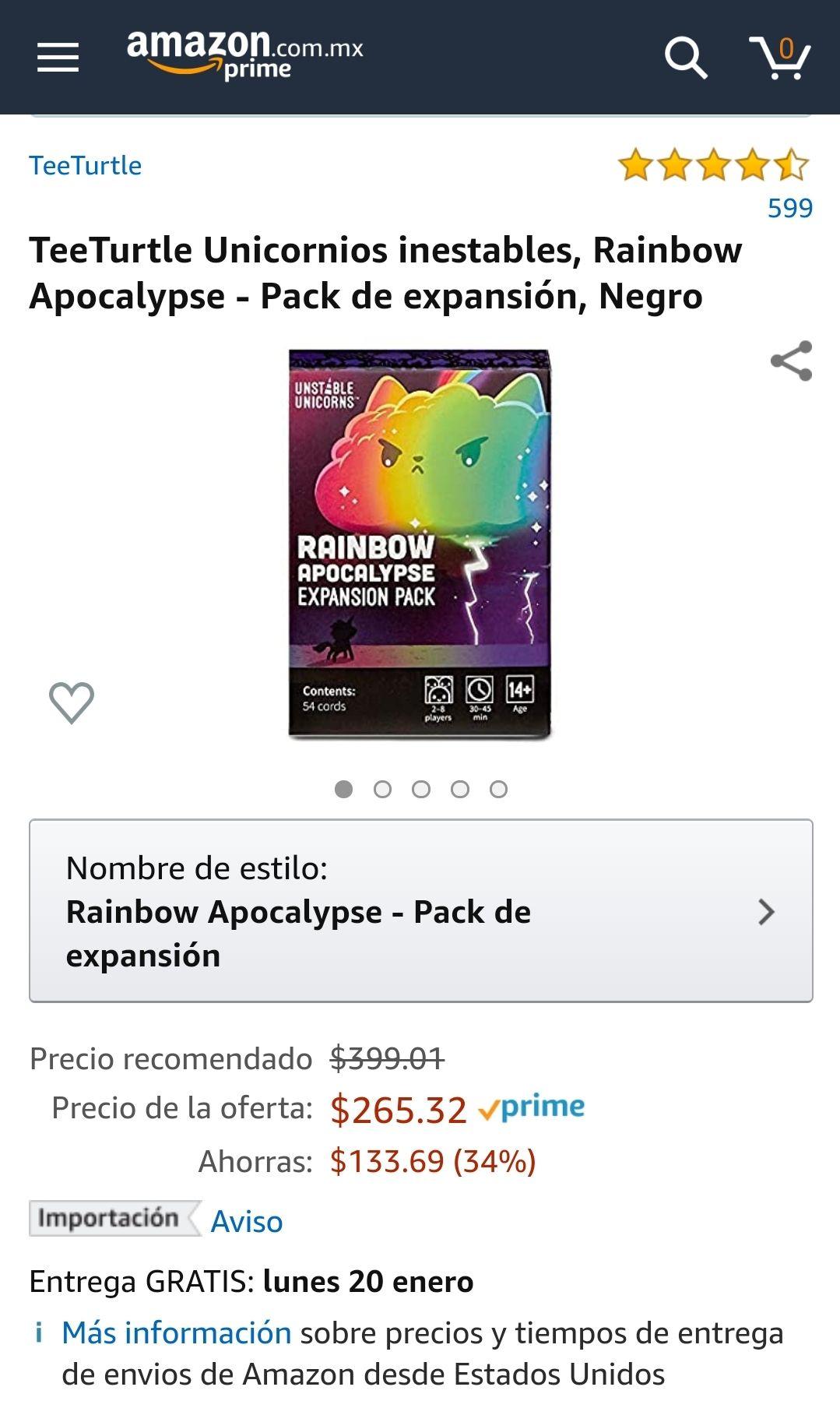 Amazon  Unicornios inestables, Rainbow Apocalypse - Pack de expansión
