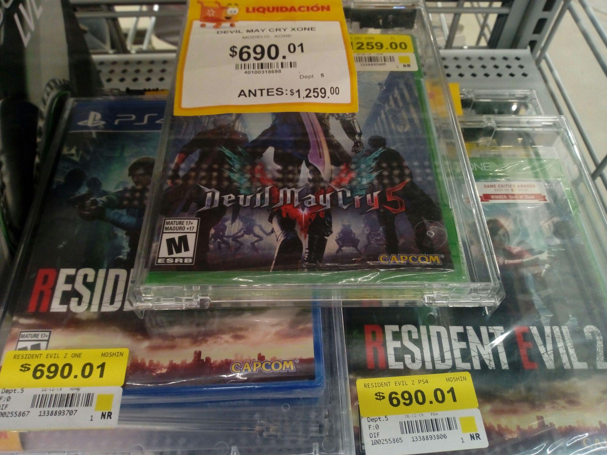 Walmart variedad de juegos para PS4 y Xbox One última liquidación