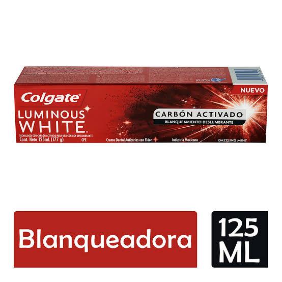 Walmart Super app-Colgate luminous white carbón activado 125ml a 3x$111