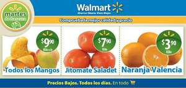 Martes de frescura Walmart marzo 26: todos los mangos a $9.90/Kg y más