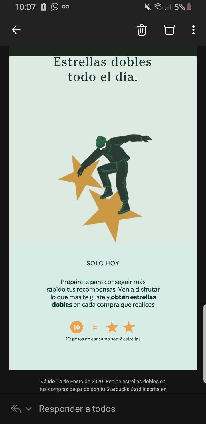 Starbucks Estrellas Dobles 14/01