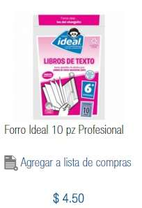 Chedraui Mina Villahermosa: Paquete de 10 forros para libros de texto gratuitos de 6to año de primaria a $4.50