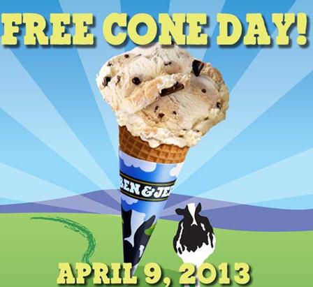 Ben & Jerry's: Día del con gratis el 9 de abril