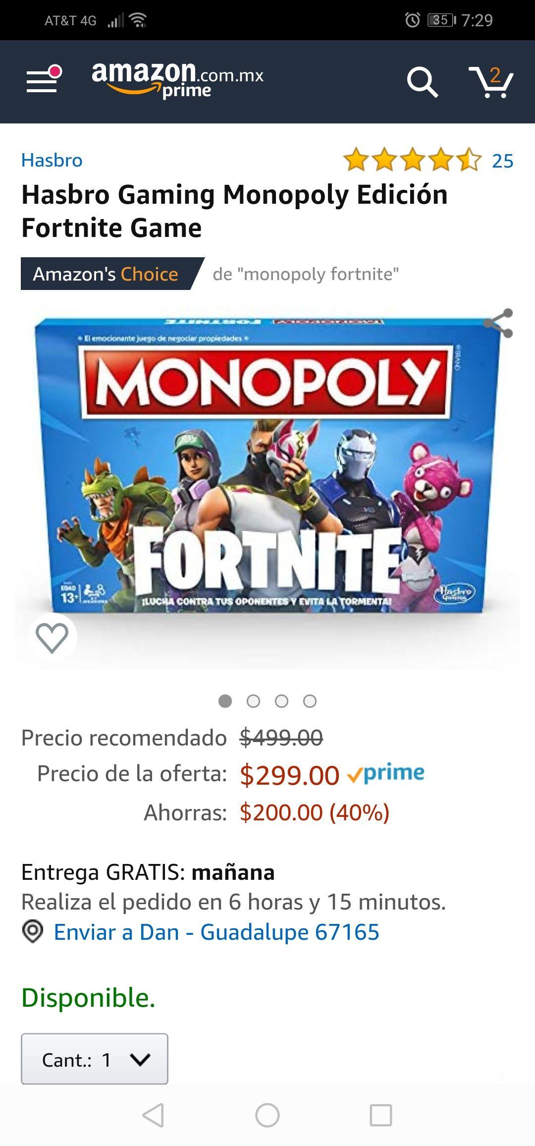 Amazon: Monopoly Fornite!