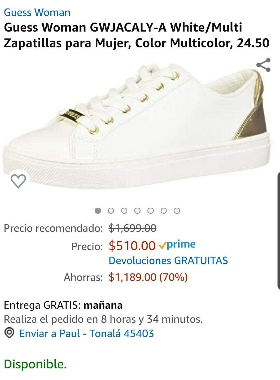 Amazon mx: zapatos guess talla 6.5 mx
