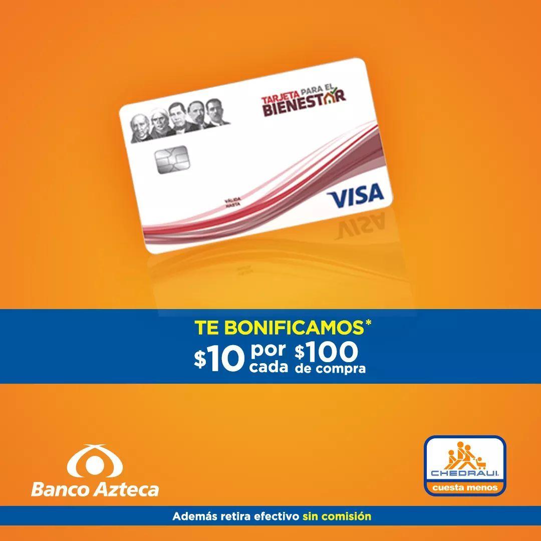 Chedraui: $10 de bonificación en monedero por cada $100 de compra al pagar con Tarjeta para el Bienestar hasta el 31 de Enero