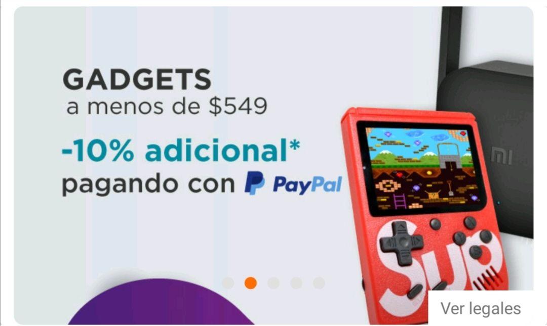 Linio 10% de descuento en Gadgets seleccionados al pagar con Paypal