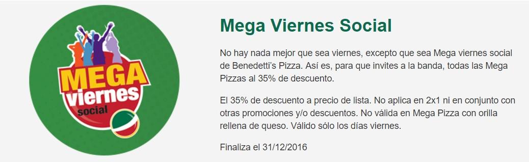 Benedetti's Pizza: Mega Pizzas con 35%