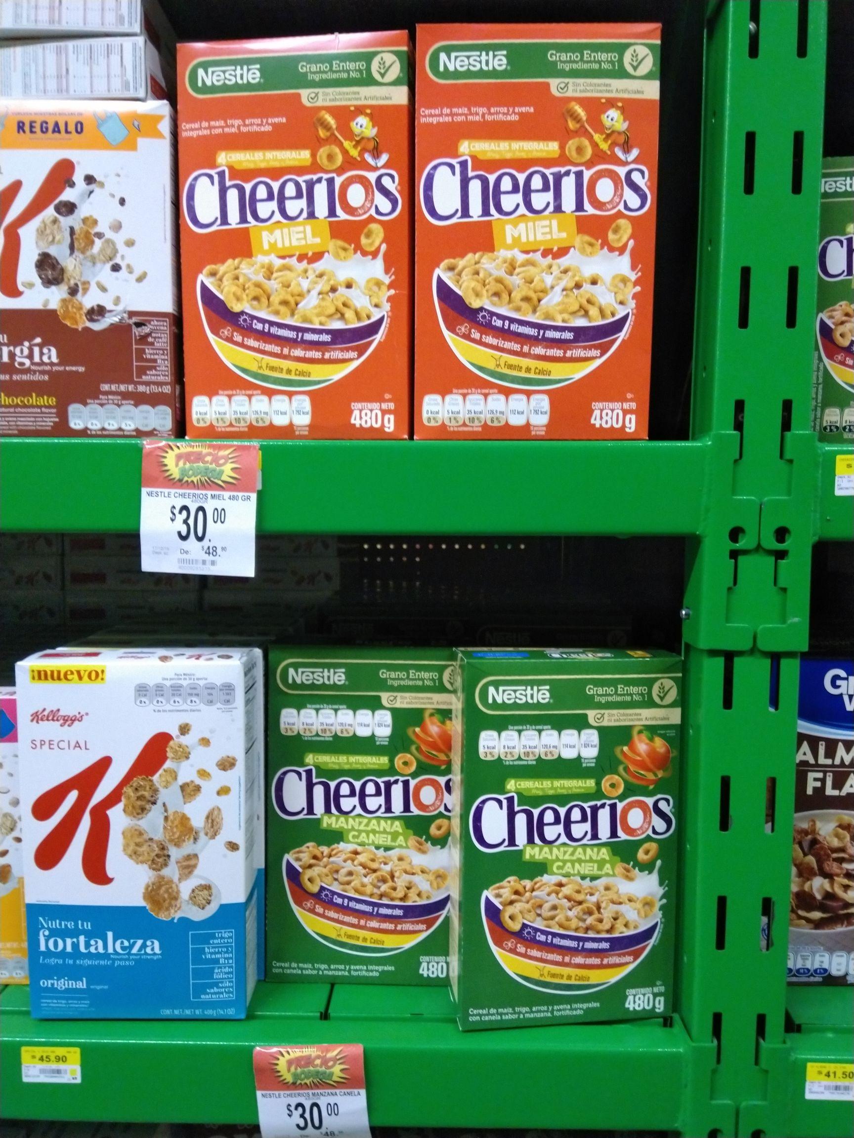Bodega Aurrera: Cereal Nestlé Cheerios