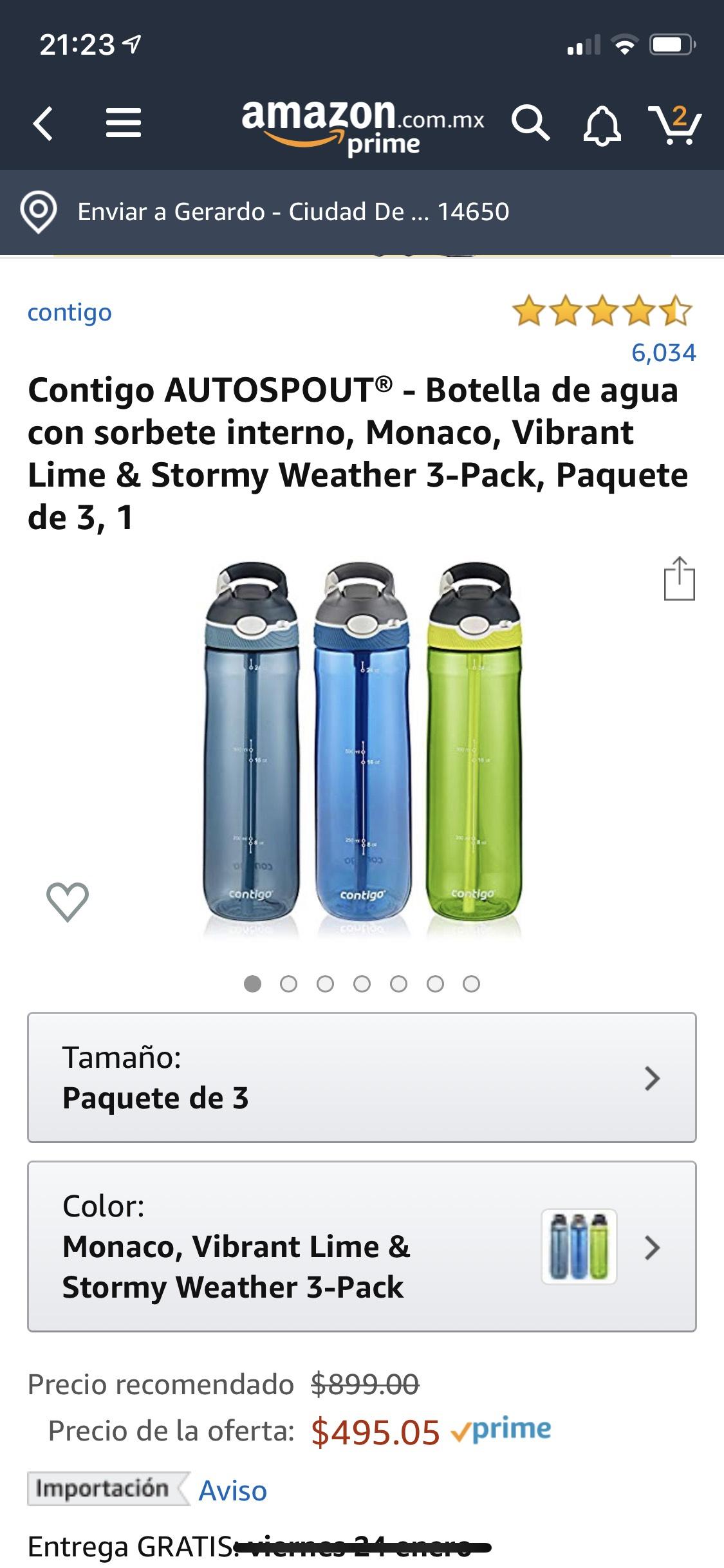 Amazon: 3 Vasos para agua de 24oz