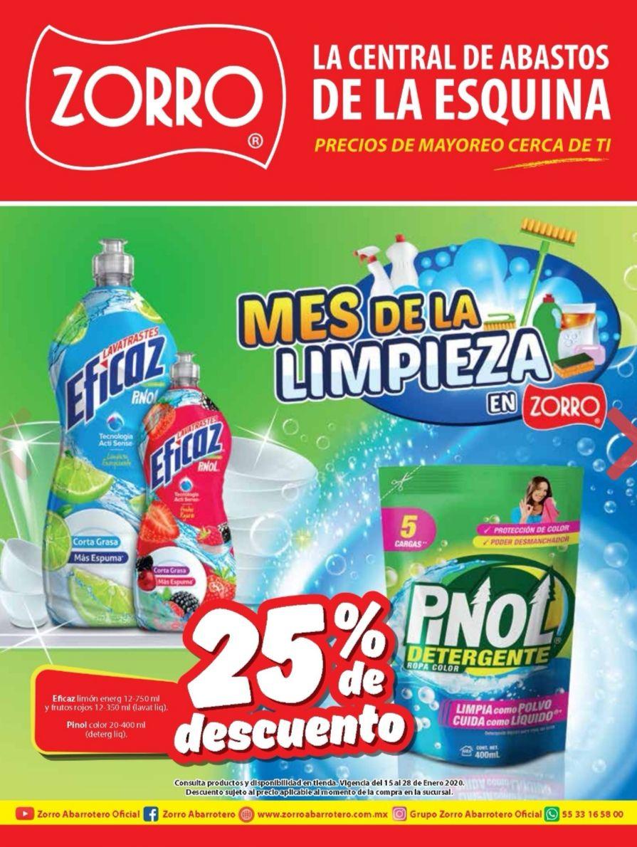 """Zorro: Folleto de Ofertas """"Mes de la Limpieza"""" vigente al Martes 28 de Enero"""