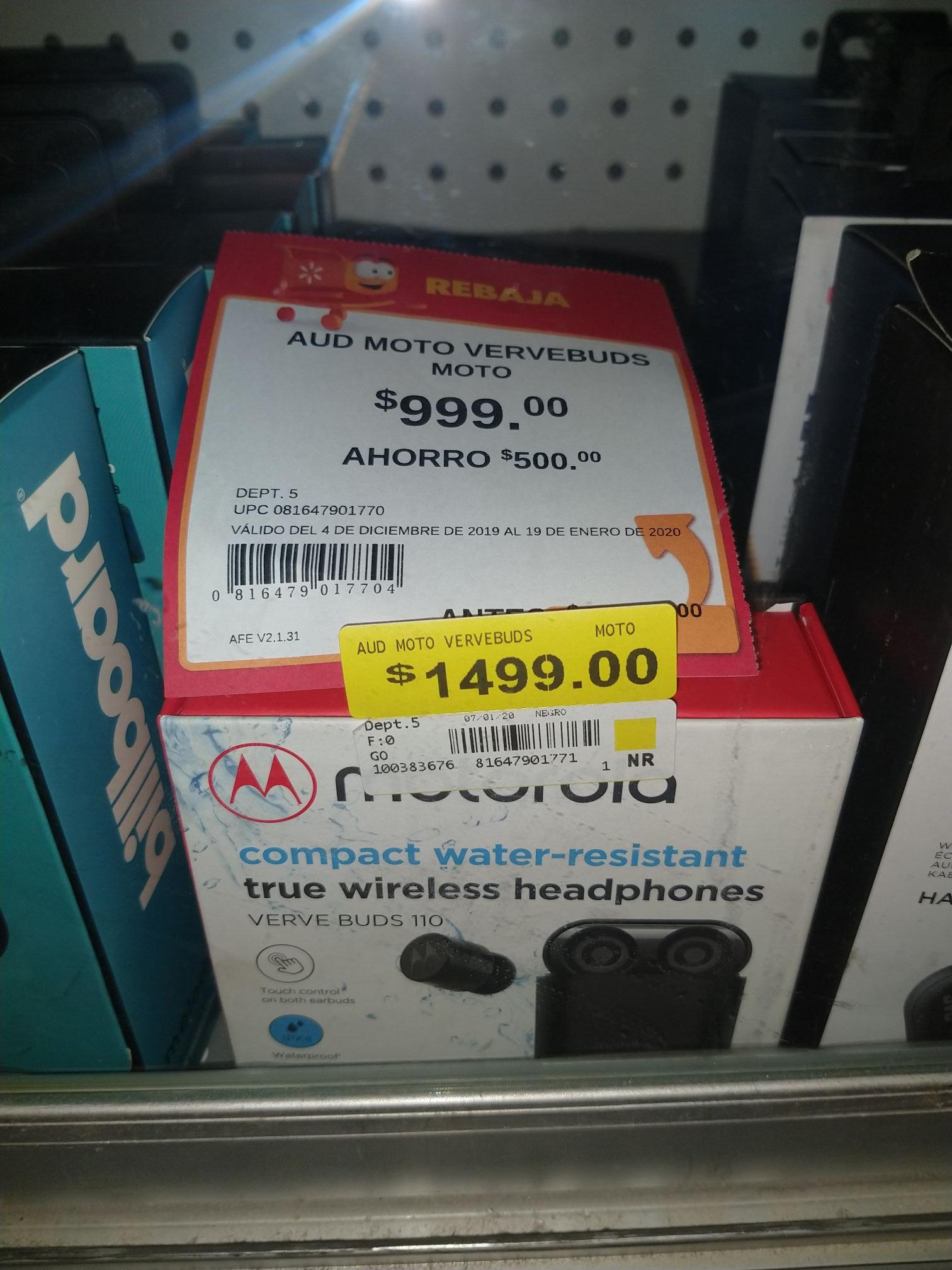 Walmart: Audífonos inalámbricos Motorola