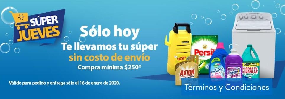Walmart Super-Envio gratis hoy jueves comprando$250 de mandado
