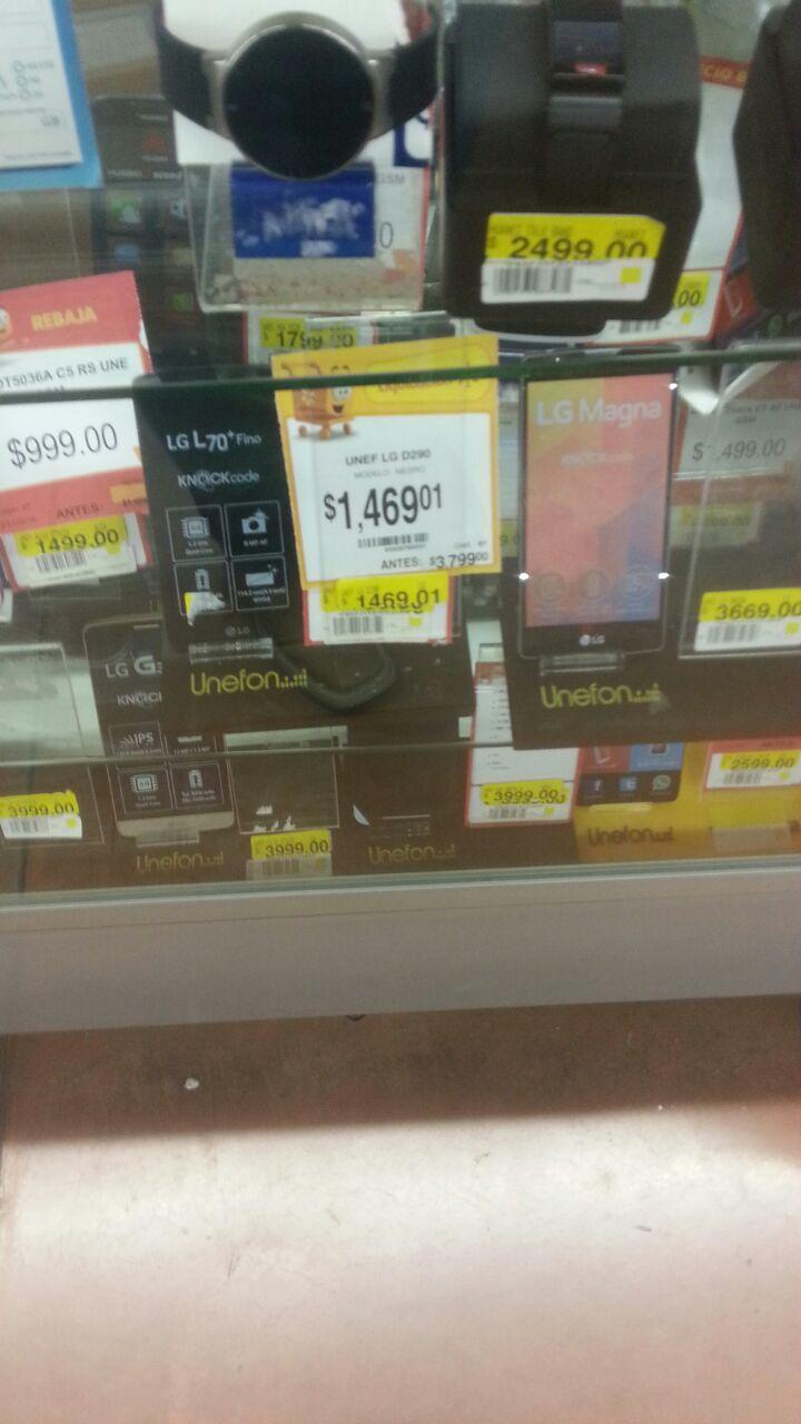 Walmart: liquidación de celulares: LG L70 + Fino y Samsung Neo Plus a $1,469.01 ambos y más...