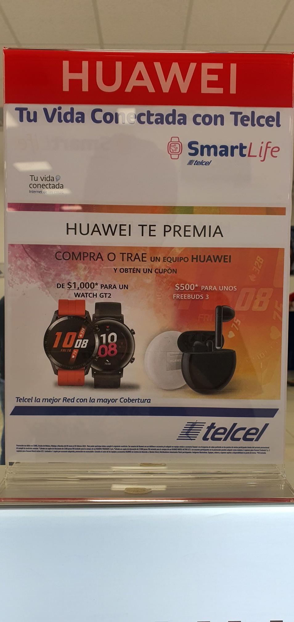 Telcel: $1,000 descuento para HUAWEI WATCH GT2