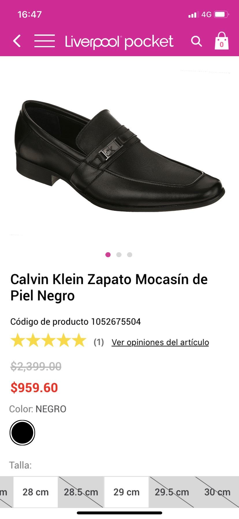 Liverpool Zapatos Calvin Klein 28