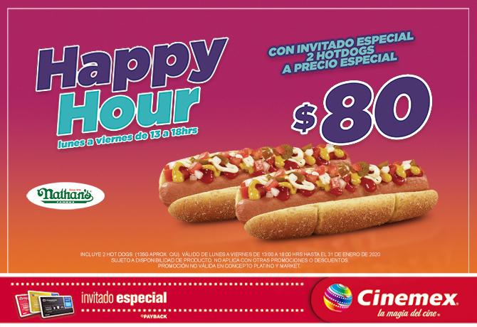 Cinemex: 2 hotdogs por $80 (con tarjeta Invitado Especial)