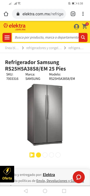 Elektra: Refrigerador Samsung RS25H5A38S8/EM 25 Pies