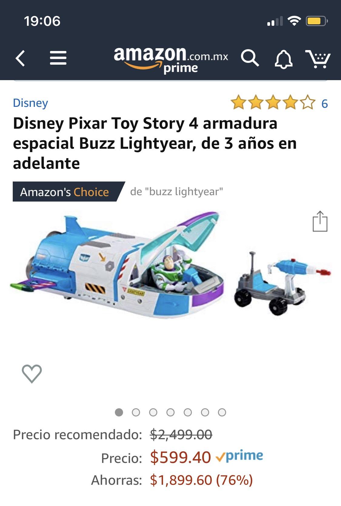Amazon: Buzz Lightyear Nave espacial Toystory