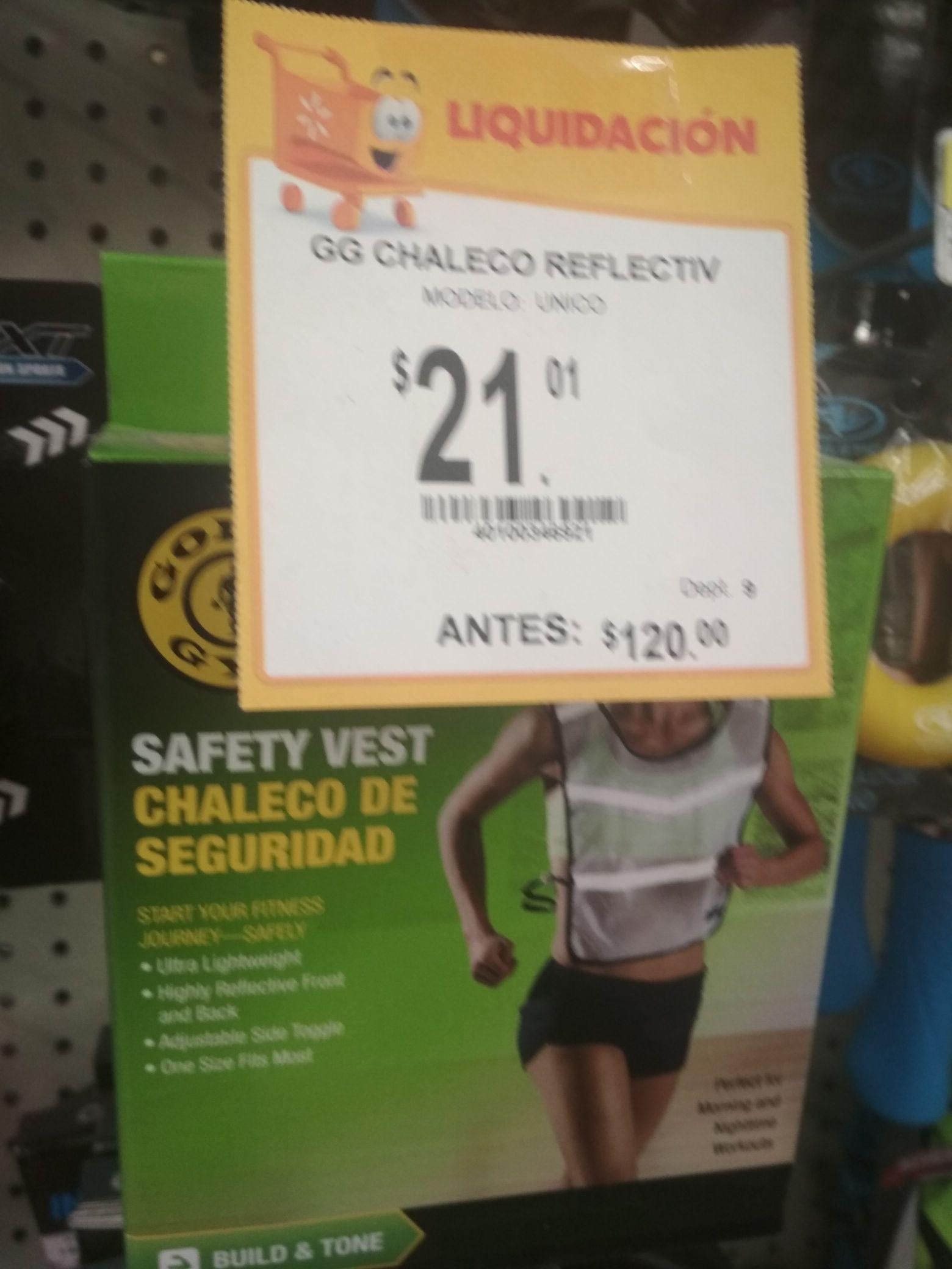 Walmart san pedro : chaleco reflejante