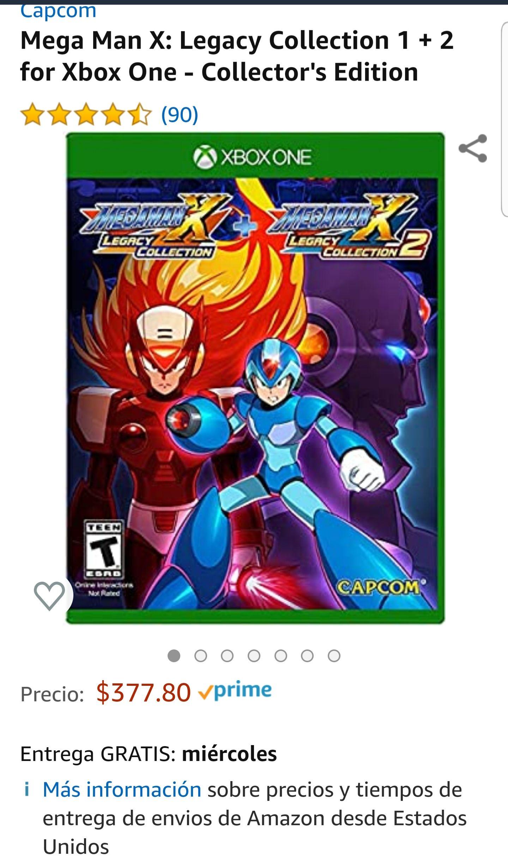 Amazon Mega Man X Legacy Collection 1 y 2 Xbox One X