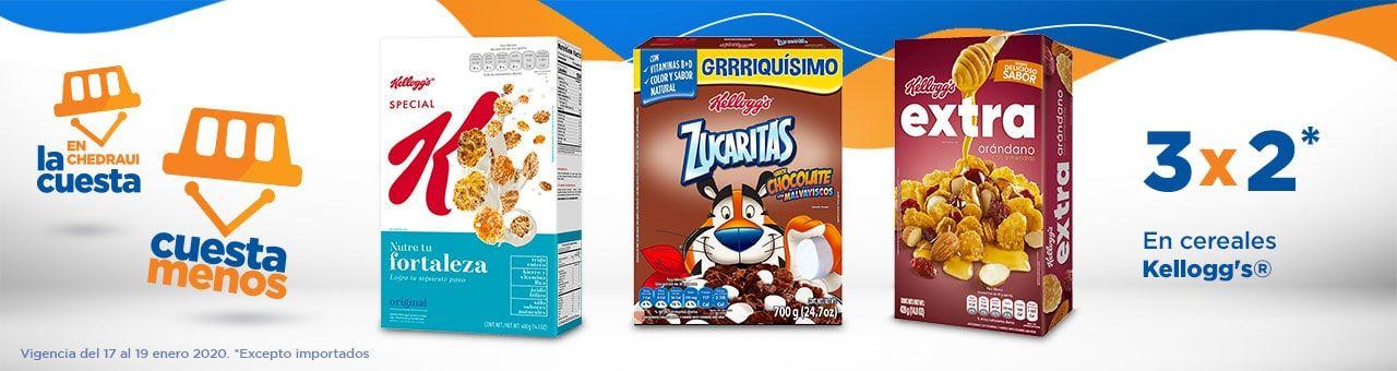 Chedraui: 3 x 2 en cereales Kellogg's
