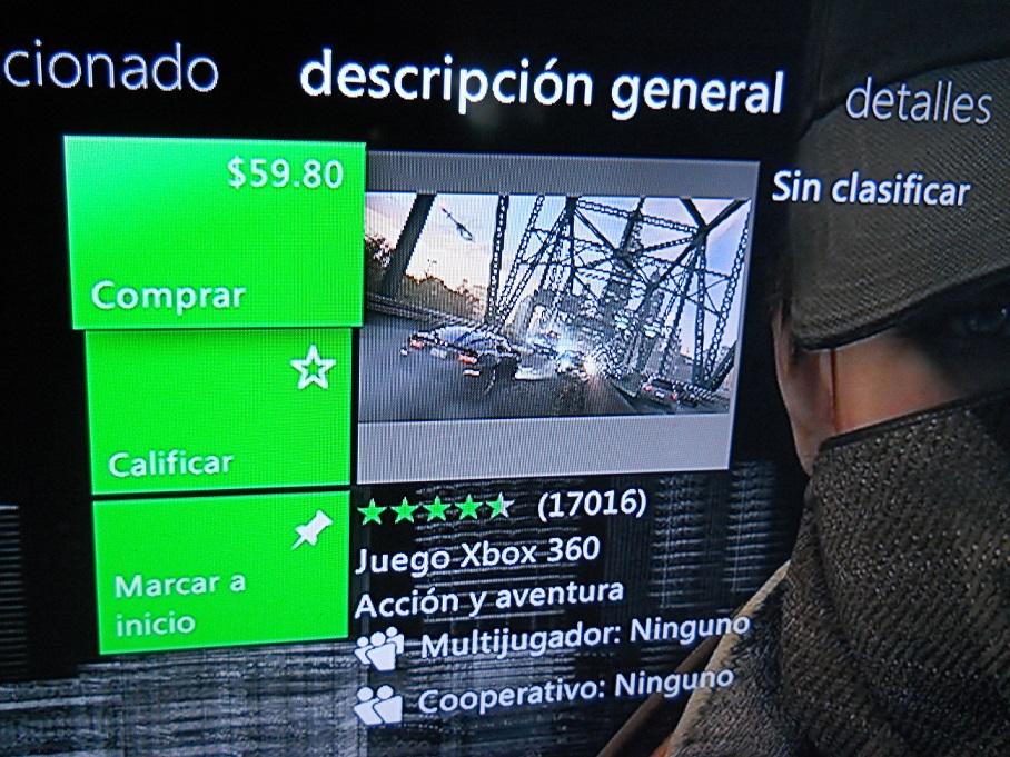 Xbox Live: Watch Dogs para Xbox 360 a $59.80 con Gold