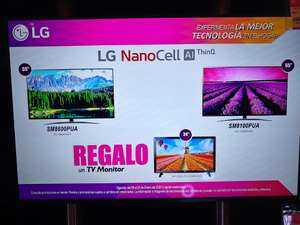 "Liverpool: LG Nanocell 55SM8100 + TV 24"" Smart de regalo."