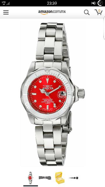 Amazon MX: Invicta Pro Diver 12518 Reloj para mujer con esfera roja a $776