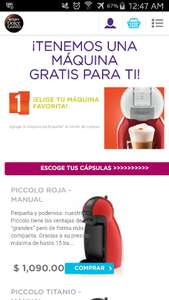 Dolce Gusto: cafetera mini me automatica + 12 cajas a $1,380