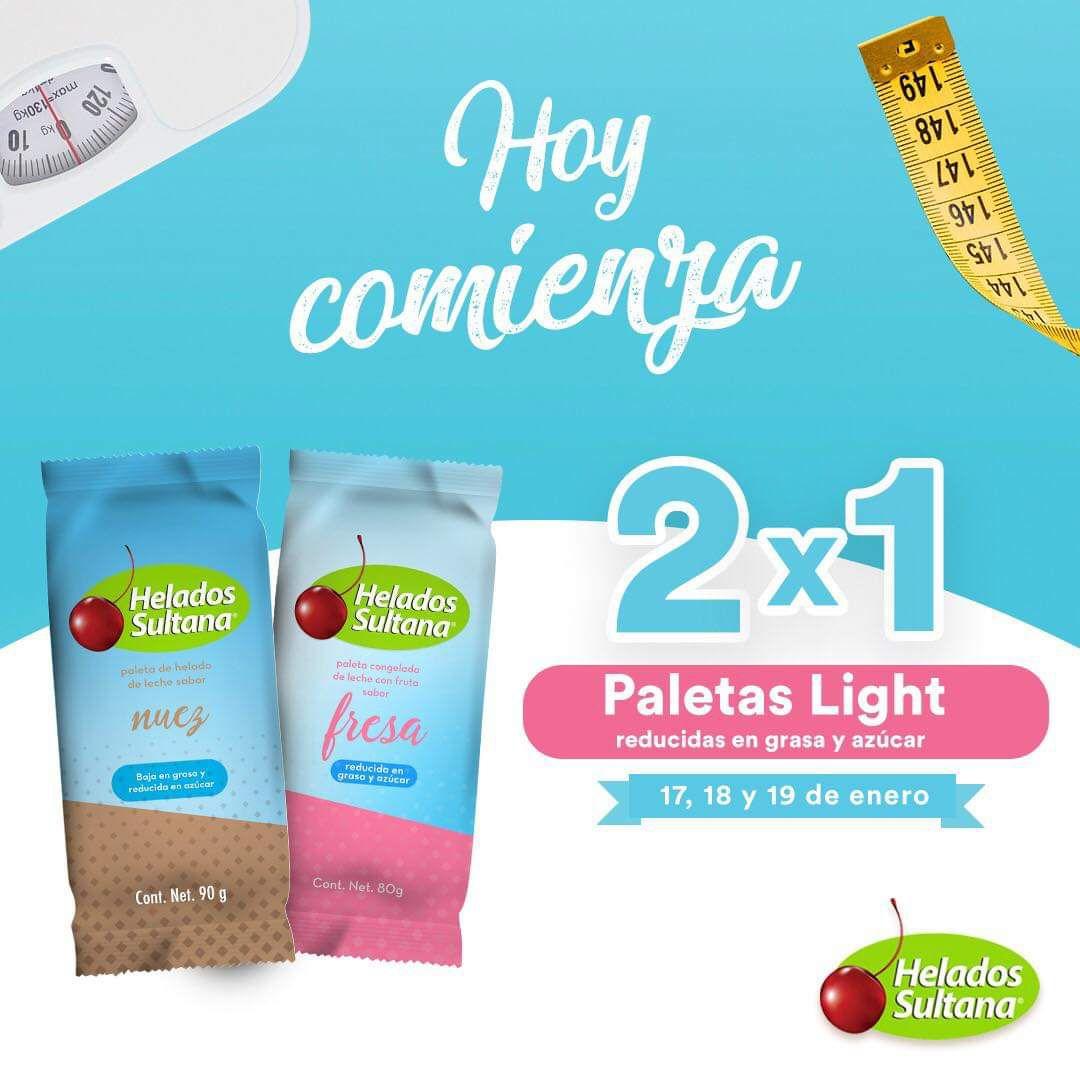 Helados Sultana: 2x1 paletas light