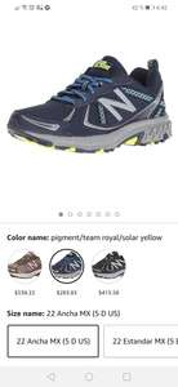 Amazon: New Balance 410v5 Zapato para correr estilo trail running para Mujer