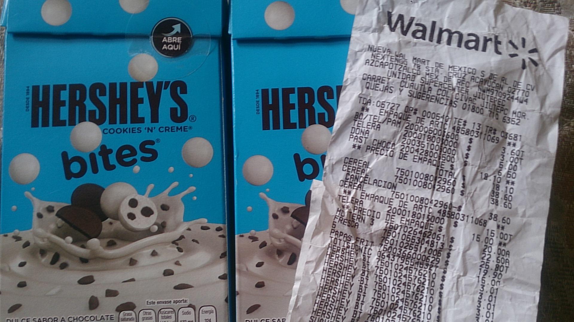 Walmart Jiutepec: Hershey's Bites a $3.01