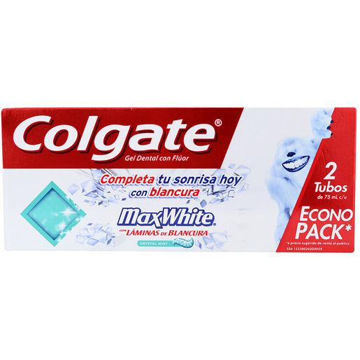 Chedraui Colgate 2 piezas max white 14.80