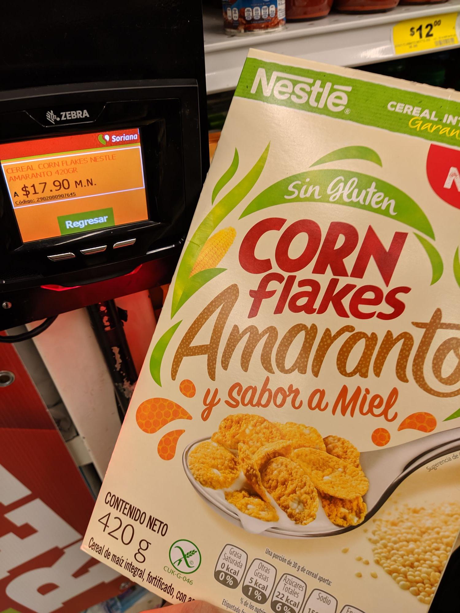 Soriana: Cereal Corn Flakes Amaranto en 17 pesos y Leche Nido $13