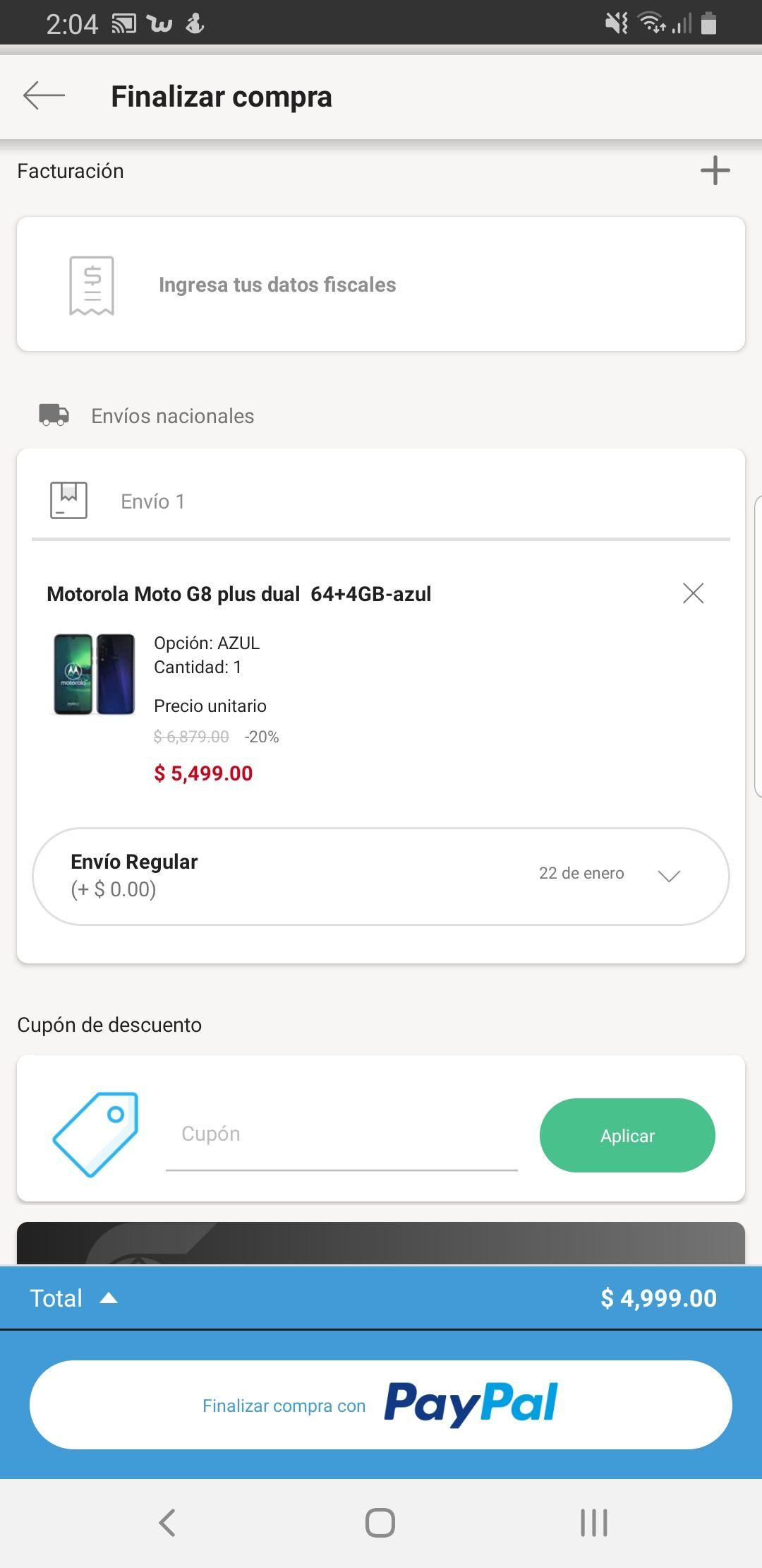 Linio: Moto G8 Plus 4 / 64gb Libre