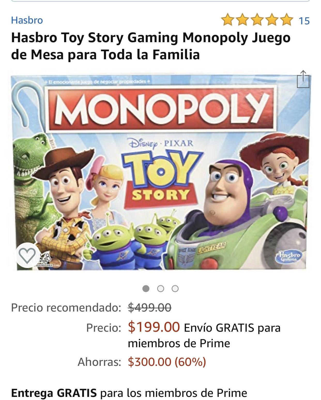 Amazon Monopoly Toy Story