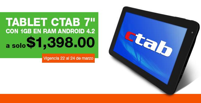"""La Comer: tablet 7"""" con Android Jelly Bean $1,398, 2 bloqueadores por $220 y +"""