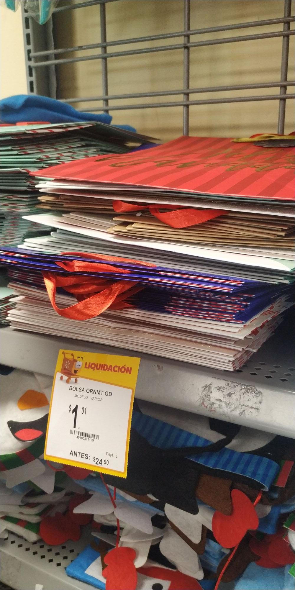 Walmart Bolsas de regalo Navideñas