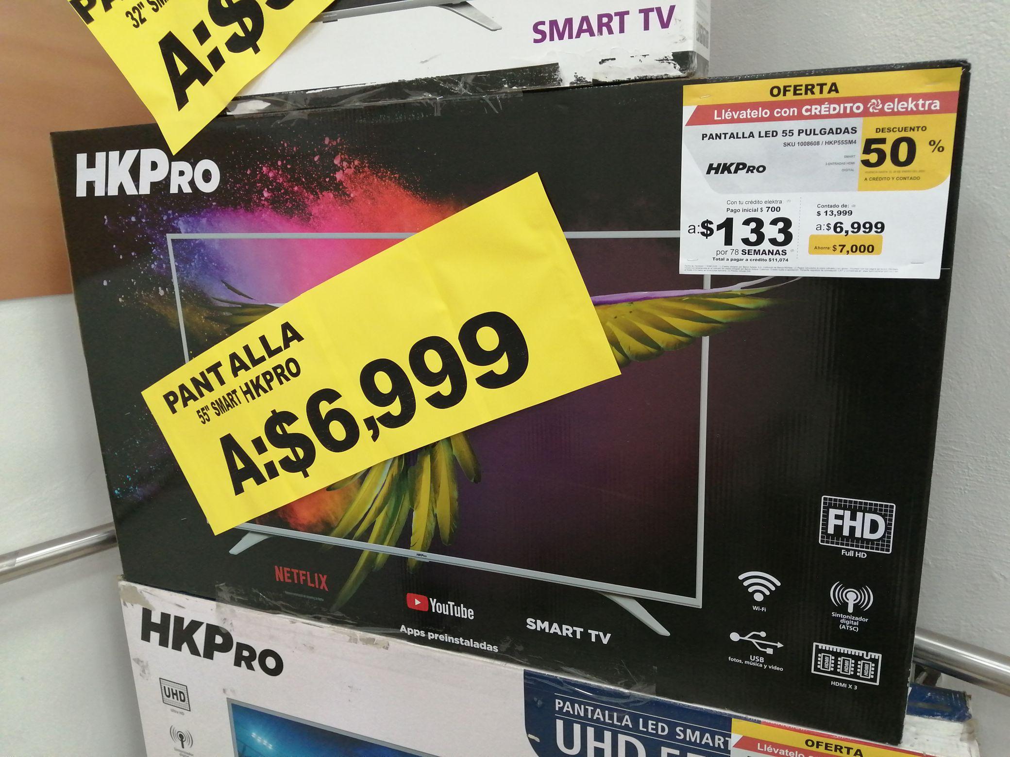 "Elektra Lomas de tecamac: pantalla Smart HKPRO 55""."