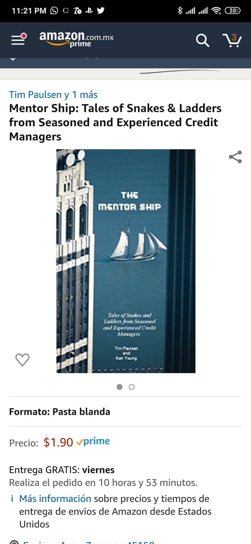 Amazon: Mentor Ship pasta blanda, aplica prime
