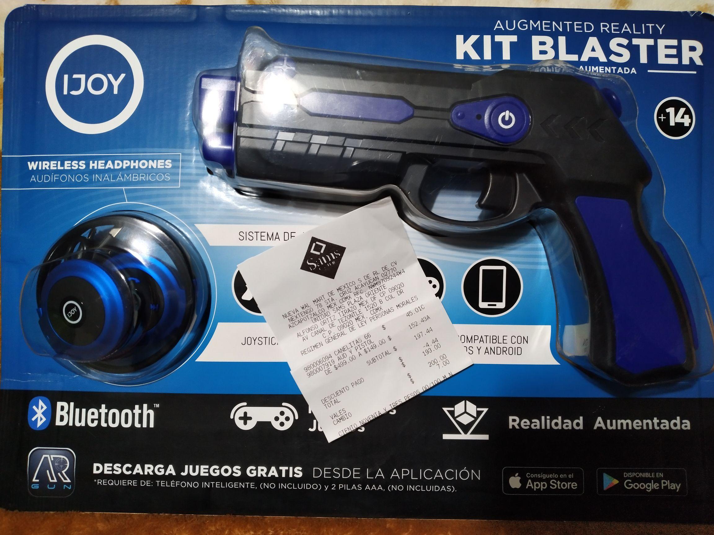 Sam's Club: kit blaster realidad aumentada.