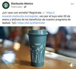 Vaso reusable Starbucks 20 de enero