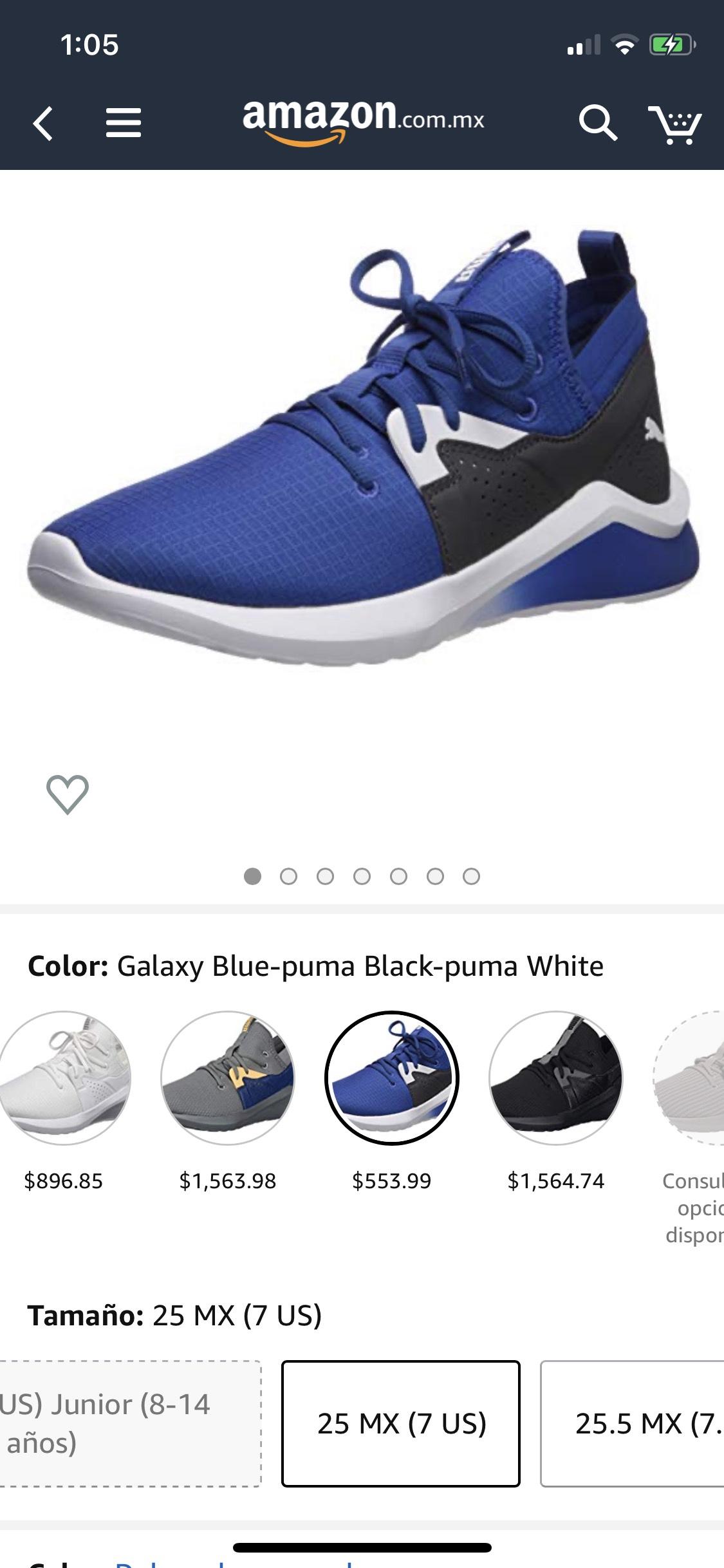 Amazon: tenis puma emergence Azul
