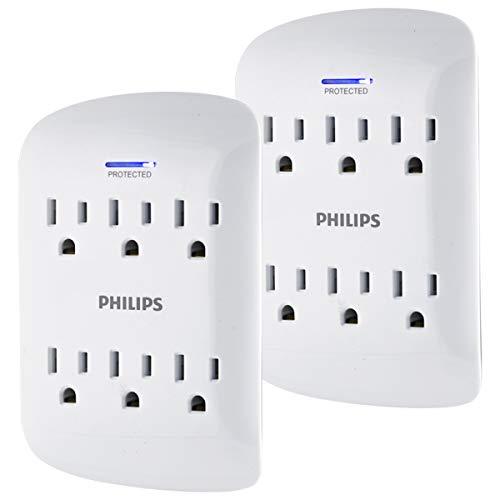 AMAZON - Paquete de 2 multicontactos con protección de picos Philips