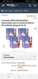 Amazon :240 Almohadillas para lactancia
